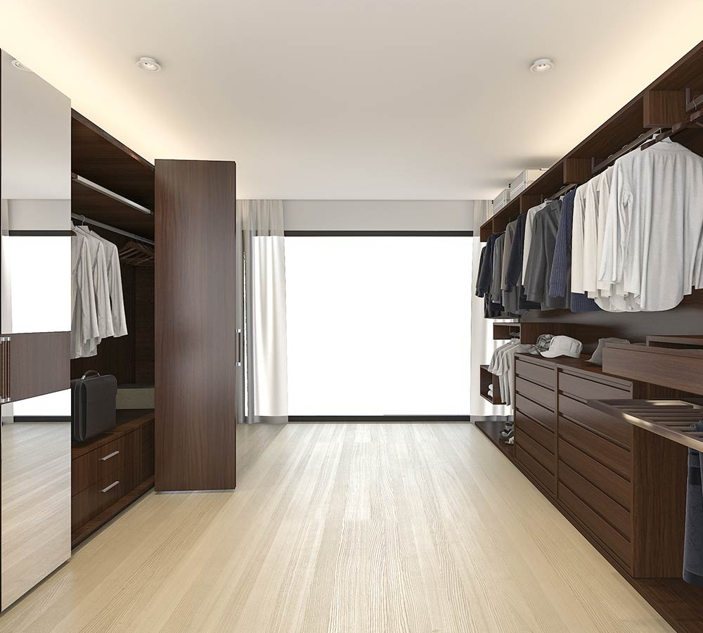 Walk-in wardrobes supplied and installed throughout the North West UK, including areas such as Liverpool, Wirral and Cheshire.