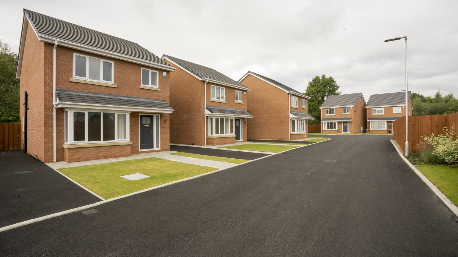 Overview of the housing development in Liverpool where we installed 5 kitchens.